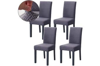 (Gray Blue) - Ogrmar 4PCS Stretch Removable Washable Dining Room Chair Protector Slipcovers/Home Decor Dining Room Seat Cover(Grey Blue)