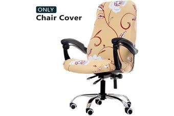 (Medium, Z4) - WOMACO Printed Office Chair Covers, Stretch Computer Chair Cover Universal Boss Chair Covers Modern Simplism Style High Back Chair Slipcover (Z4, Medium)