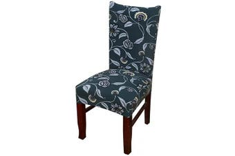 (1 Piece, Mystery Rose) - nordmiex Spendex Dining Chair Slipcovers - 1 Piece Removable Dining Chair Covers Wrinkle and Stain Resistant Chair Protector Fitted Stretch Cushion Covers for Dining Room