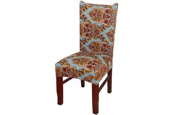 (1 Piece, Classical) - nordmiex Spendex Dining Chair Slipcovers - 1 Piece Removable Dining Chair Covers Wrinkle and Stain Resistant Chair Protector Fitted Stretch Cushion Covers for Dining Room,-Classical