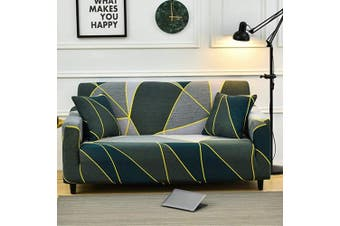 (Loveseat, Pattern #21) - nordmiex Printeded Stretch Sofa Slipcover - 1 Piece Elastic Polyester Spandex Couch Covers- Universal Fitted Sofa Slipcover Furniture Protector with 2 Pillowcases (Loveseat Sofa,Printeded#0K)