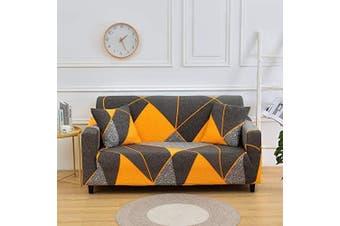 (Loveseat, Pattern #26) - nordmiex Printeded Stretch Sofa Slipcover - 1 Piece Elastic Polyester Spandex Couch Covers- Universal Fitted Sofa Slipcover with 2 Pillowcases Furniture Protector (Loveseat Sofa)