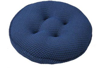 (Navy Blue) - Lominc 32cm Round Bar Stool Cover Cushion, Thick Padded for 28cm - 33cm Wooden/Meatl Stools,Help Relieve Pressure, with 4 Ties
