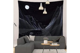 (200cm  x 150cm , Mountain 2) - Grace Store Tapestry Black Mountain Tapestry Wall Hanging Moon Tapestries Blanket Wall Art for Living Room Bedroom Home Decor, 200cm x 150cm