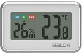 (White) - Digital Mini Indoor Thermometer Hygrometer – Fridge Thermometer With Humidity Gauge, Indoor Temperature Monitor, Magnet Attaching For Kitchen Refrigerator, Office & Greenhouse, White