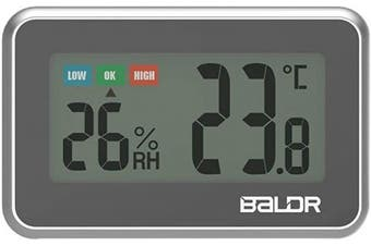 (Black) - Digital Mini Indoor Thermometer Hygrometer – Fridge Thermometer With Humidity Gauge, Indoor Temperature Monitor, Magnet Attaching For Kitchen Refrigerator, Office & Greenhouse, Black
