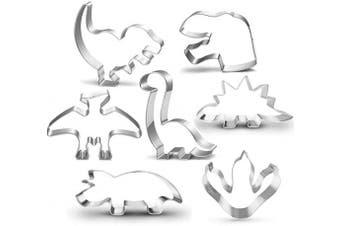 (7 piece) - New Dinosaur Cookie Cutter Set-7.6cm -Dinosaur Footprint Head, Tyrannosaurus, Brontosaurs, Spinosaurus, Triceratops Dinosaurs Mould for Kids Dinosaur Birthday Party (7 piece)