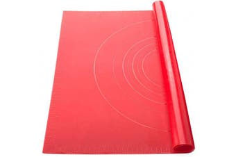 """(Red01) - ME.FAM Silicone Mat for Baking 27.6""""x17.7"""" Pastry Mat, Non-Stick, Heat Resistant, Food Safe Baking Mat with Measurements for Rolling Dough, Making Pizza, Pie, Macaron, Bread (Red01)"""