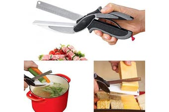 Alexi Multifunctional Cutter 2-in-1 Vegetable Food Scissor Stainless Steel Cutter Graters