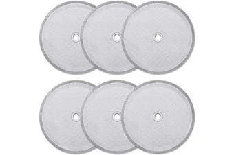 6 Pieces French Press Replacement Filters Mesh Filters Replacement 10cm Stainless Steel French Press Replacement Screen for 1000 ml, 34 Oz, 8 Cup French Press Coffee Makers and Tea Machines