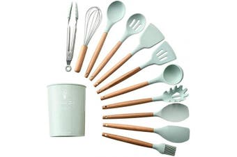 (Flat Spoon) - Alexi Durable Practical Heat Resistant Silicone Kitchenware Kitchen Tool Cookware Sets