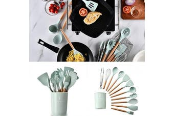(Colander) - Alexi Durable Practical Heat Resistant Silicone Kitchenware Kitchen Tool Cookware Sets