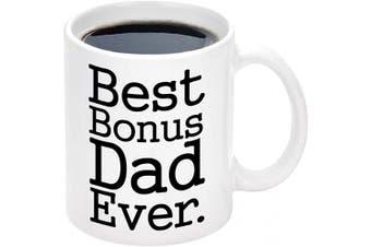 (White-Dad1) - Dad Ever Mug Dad Coffee Mugs for Dad Mugs from Daughter Coffee Mug for Dad Ideas for Fathers Day White 330ml