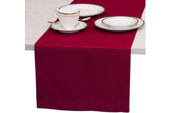 (36cm  x 90cm , Cranberry Red) - Red Table Runner 90cm , Cranberry Dresser Scarf, Outdoor Coffee Table Runner, Elegant Dining Table Runners for Fiesta, Dinner Parties, Events, Wedding, Decor Thanksgiving, Halloween, Christmas