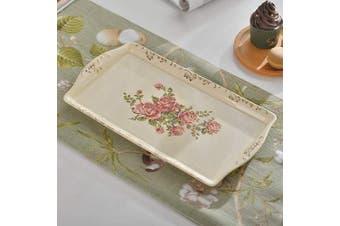 (Rose) - YOLIFE Rose Serving Tray,Porcelain Decorative Platter for Tea Party - 34cm