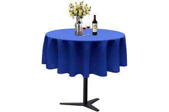 (Φ 130cm , Royal Blue) - ABCCANOPY Round Tablecloth 130cm Inch Round Table Cloths for Circular Table Cover Washable Polyester - Great for Buffet Table, Parties, Holiday Dinner, Wedding & More