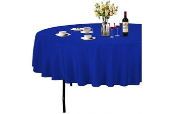 (Φ 230cm , Dark Blue) - ABCCANOPY Round Tablecloth 230cm Inch Round Table Cloths for Circular Table Cover Washable Polyester - Great for Buffet Table, Parties, Holiday Dinner, Wedding & More