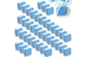 100 Pieces Solid Washing Machine Cleaner Effervescent Tablet Washer Cleaner Deep Cleaning Remover Decontamination Cleaning Detergent with Triple Decontamination for Washer Bath Room Kitchen