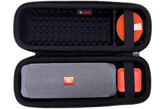 (Black) - XANAD Hard Travel Carrying Case for JBL FLIP 5 Waterproof Portable Bluetooth Speaker - Storage Protective Bag (Black)