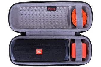 (Grey) - XANAD Hard Travel Carrying Case for JBL FLIP 5 Waterproof Portable Bluetooth Speaker - Storage Protective Bag