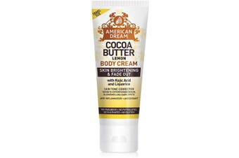 AMERICAN DREAM Lemon Cocoa Butter Cream For Skin Brightening and Fade Out, 100 ml