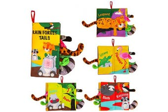(Rainforest Tails) - beiens Infants & Toddler Early Development Interactive Toys, Baby Girl & Baby Boy Gift (Rainforest Tails)