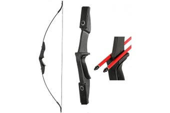 (40.0 Pounds) - TOPARCHERY Archery 140cm Takedown Youth Recurve Bow Hunting Black Long Bow for Beginner Teenagers Right Left Hand Black - Draw Weight 14kg 14kg