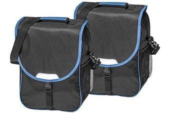 (Blue / Black) - 4 Uniq bicycle pannier rack set of 2; different version.