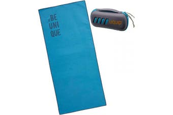 (Agility Blue (40x90cm)) - Uquip Microfibre Towel with Carry Bag - Ultralight, Absorbent, Quick Dry - Small, Medium, Large Size
