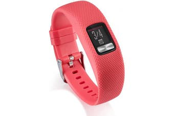 (Large, Red) - AWINNER Bands Compatible for Garmin vivofit 4,Replacement Sport Colourful Band for vivofit 4 Activity Tracker -Free Lifetime Replacement Warranty (Red, Large)
