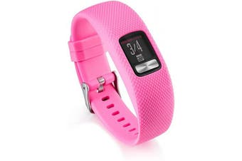 (Large, Pink) - AWINNER Bands Compatible for Garmin vivofit 4,Replacement Sport Colourful Band for vivofit 4 Activity Tracker -Free Lifetime Replacement Warranty (Pink, Large)