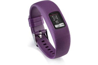 (Large, Purple) - AWINNER Bands Compatible for Garmin vivofit 4,Replacement Sport Colourful Band for vivofit 4 Activity Tracker -Free Lifetime Replacement Warranty (Purple, Large)