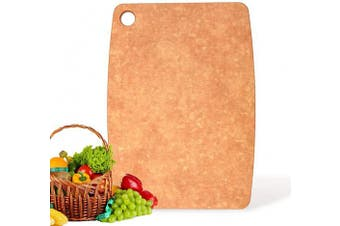 (30cm  x 21cm , Normal) - Kitchen Series Cutting Board, 100% Natural Wood Fibre Cutting Boards, Non-Slip Non-Porous Chopping Board (Small : 30cm x 21cm )