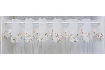 (150cm W X 30cm L 1 Panel, Style#12) - Abreeze Decorative Embroidered Kitchen Curtain, Cafe Curtain, Dining Room Curtain, Kitchen Curtain Tier & Valance (150cm W X 30cm L 1 Panel, Style#12)