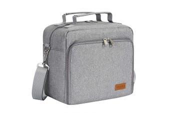 (one size, Gray) - ACECHA Insulated Cooler Bottle Bag - Leakproof Breastmilk Storage Bag Reusable Bottle Bag for Daycare with Adjustable Shoulder Strap for Nursing Women
