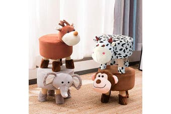 (monkey) - Washable Animal Ottoman, Kids Footrest Stool, Animal Shoe Change Stool Cartoon Chair Gifts for Kids