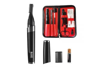(Bright) - 9 in 1 Electric Eyebrow Trimmer Kit for Women Men,Eyebrow Precision Trimmer,Electric Eyebrow Razor for Face Body,Ladies, Min Facial Brows Hair Removal Painless Peach Fuzz Shaver PT-600