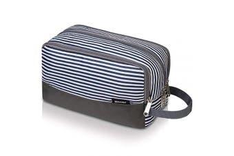 (Stripes) - WANDF Toiletry Bag Small Nylon Dopp Kit Lightweight Shaving Bag for Kids Men and Women (Stripes)