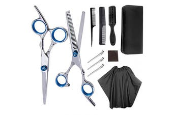 Professional Hair Cutting Scissors Set 10 PCS, Professional Hairdressing Scissors Set Hair Beard Trimming Shaping Grooming Thinning Shears for Men & Women & Kids & Pets Home Salon Barber Cutting Kit