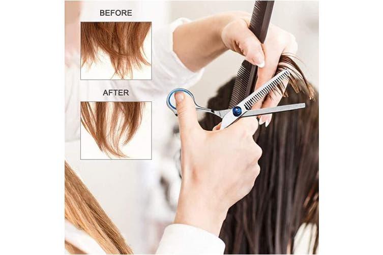 Professional Hair Cutting Scissors Set 10 PCS, Professional Hairdressing Scissors Set Hair Beard Trimming Shaping Grooming Thinning Shears for Men & Women & Kids & Pets Home Salon Barber Cutting Kit