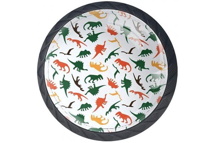 (Multi10) - Idealiy Dinosaurs Patterns Cabinet Door Knobs Handles Pulls Cupboard Handles Drawer Wardrobe 4pcs