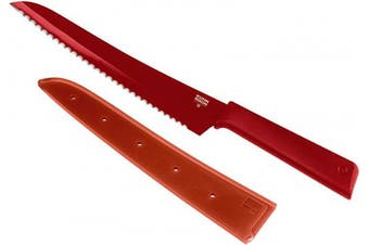 (Red) - Kuhn Rikon Colour Plus Bread Knife, Red