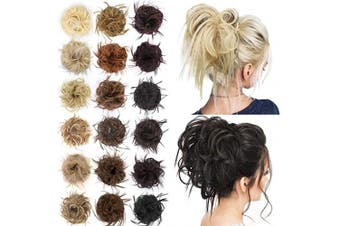 (18t/613# (Ash Blonde Mix Bleach Blonde)) - AISI BEAUTY Tousled Updo Hair Pieces Messy Bun Hair Scrunchies Extensions Hair Pieces and Ponytails Hair Extensions for Women (18t/613# (Ash Blonde Mix Bleach Blonde))