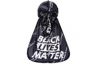 (Black) - Black Lives Matter Durag Silky Durag for Men Designer Do Rag