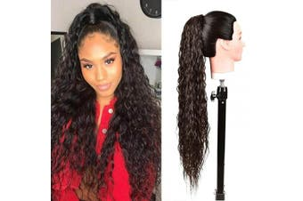 (4#) - BHF 80cm Long Drawstring Ponytail Extension Heat Resistant Synthetic Clip in Natural Wave Ponytail Hair Pieces For Women(4#)