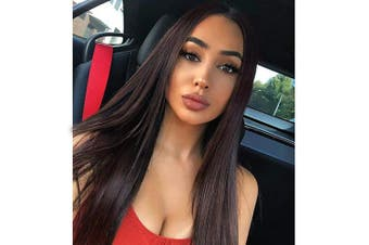 (6-8 #) - AISI HAIR Dark Brown Natural Long Straight Hair Wig For Women Straight Middle Part Synthetic Hair Wig 80cm (6/8)