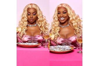 (12 14 16, 613 Bundles) - Aopusi 613 Blonde Brazilian Hair Bundles Body Wave Remy Human Hair Weft Blonde Hair 3 Bundles Bleached Blonde Body Wave Bundles(12 14 16,#613)