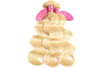 (22 22 22, 613 Bundles) - Aopusi 613 Honey Blonde Bundles Body Wave 3 Bundles Brazilian Virgin Remy Hair Weave Human Hair Body Wave Bundles Hair Extension(22 22 22,#613)