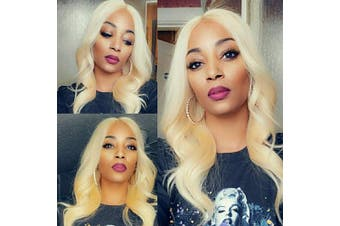 (18 18 18, 613 Bundles) - 613 Blonde Hair Bundles 3 Pcs Human Hair Bundles Bleached Blonde Body Wave Bundles Body Wave Brazilian Remy Hair Extension(18 18 18,#613)