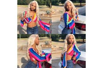 (10 12 14, 613 Bundles) - 613 Honey Blonde Brazilian Virgin Body Wave Bundles 100% Unprocessed Human Hair Weave Remy Hair Weft Platinum Blonde for Black Women(10 12 14,#613)